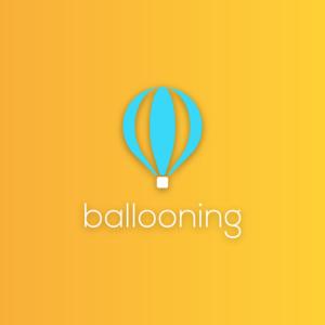 Ballooning – Hot air balloon vector logo free logo preview