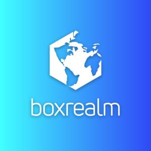 Boxrealm – World earth vector logo free logo preview