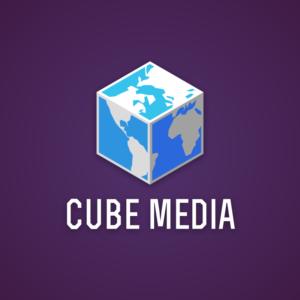Cube media – World brand vector logo free logo preview