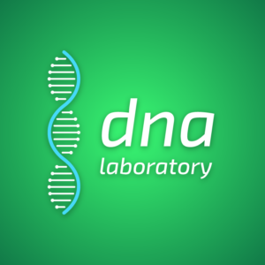 DNA laboratory – Science logo vector free logo preview