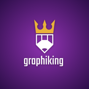 Graphiking – Pencil crown logo design vector free logo preview