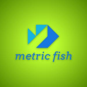Metric fish – Geometric fish logo design free logo preview