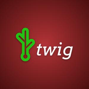 Twig – Green stylish logo free logo preview
