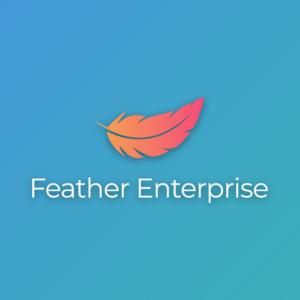 Feather enterprise – Bird business logo vector free logo preview