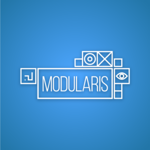 Modularis – Free geometric modular logo vector free logo preview
